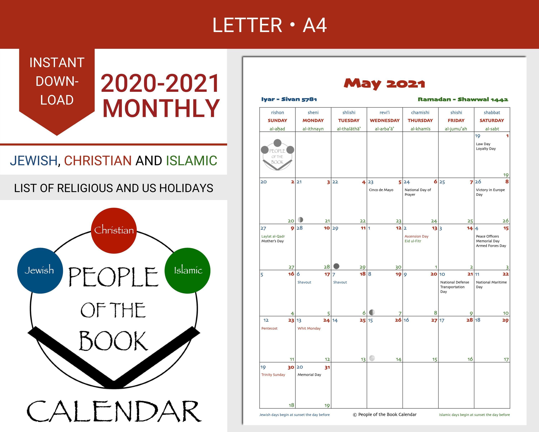 Pin On Printable Calendars Jewish Christian And Islamic