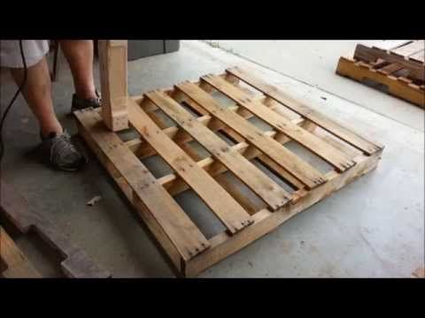 How To Dismantle A Pallet Without Splitting It Without Special Tools And Recover The Nails