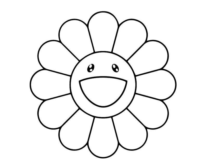 Takashi murakami flower logo vinyl painting stencil size pack ...