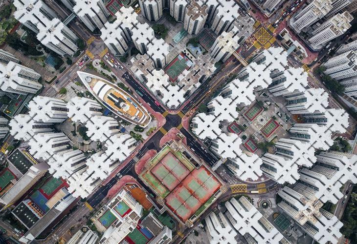 Walled City Aerial Photos Of Hong Kong