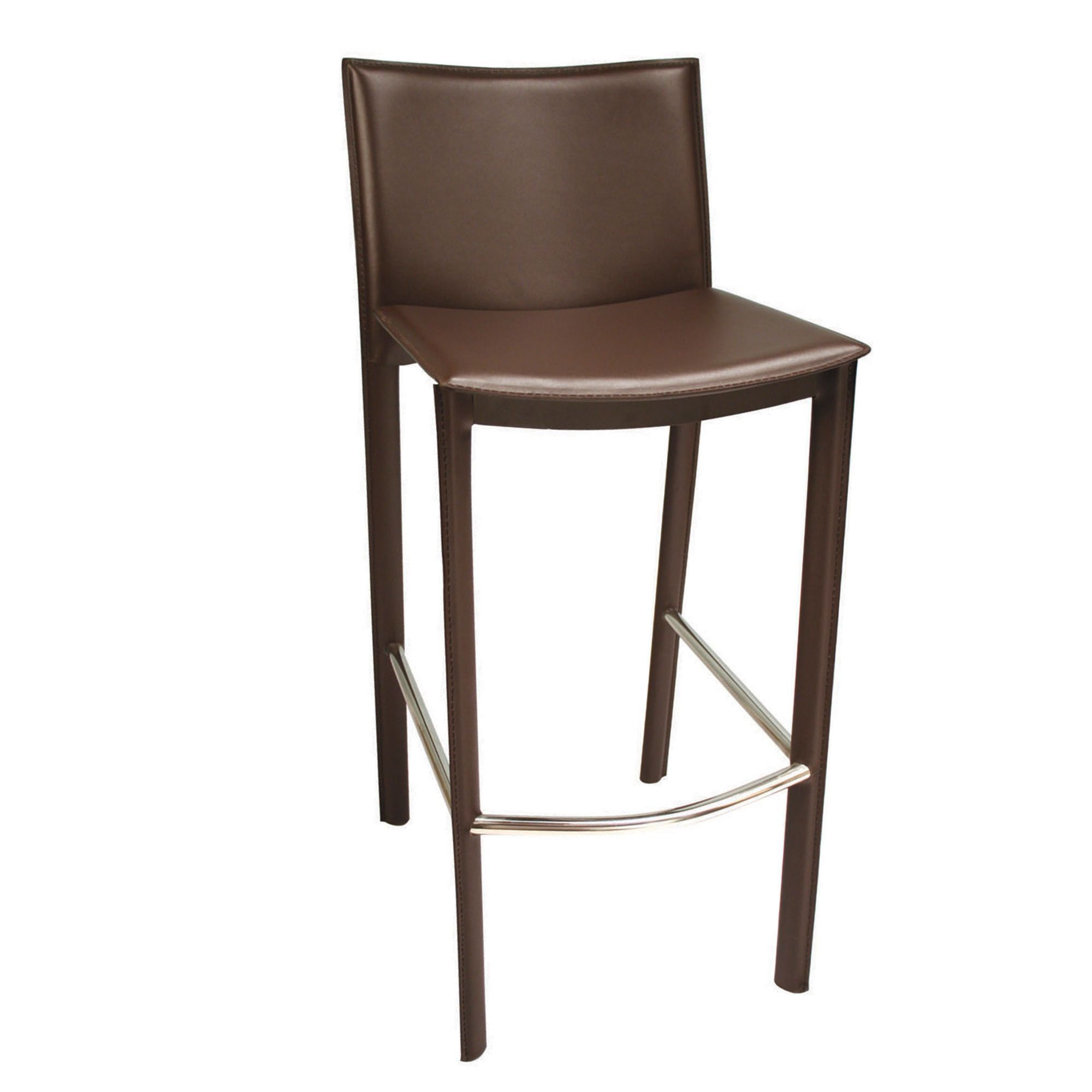 Beautiful Brown Faux Leather Bar Stools
