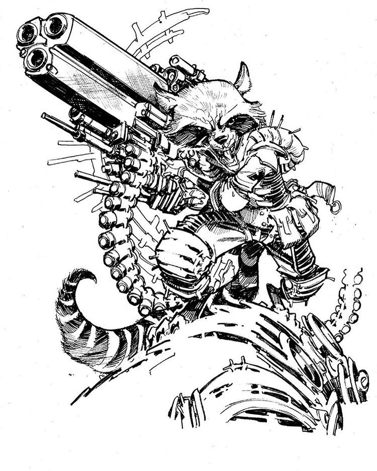 Rocket Raccoon by Eric Superhero art