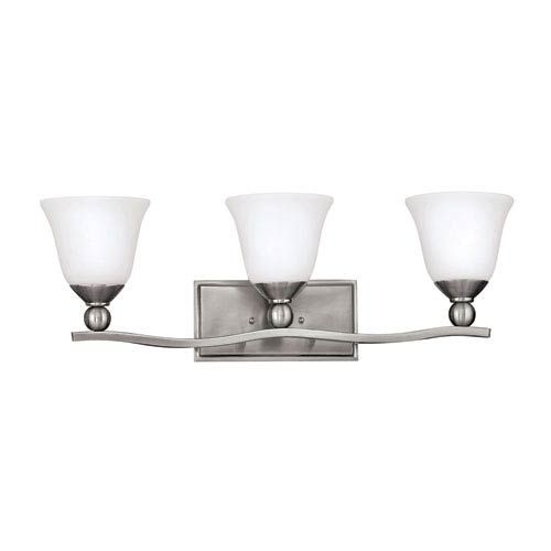 Photo of Hinkley 5893BN Bolla three-light bathroom mixer made of brushed nickel – brushed, temporarily   Bellacor