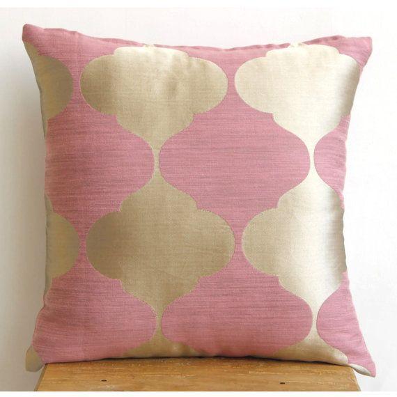 Decorative Bed Pillows Pinterest : Decorative Throw Pillow Cover Couch Pillows Sofa Pillow Bed Pillow Toss Pillow 16 x 16 Pink ...