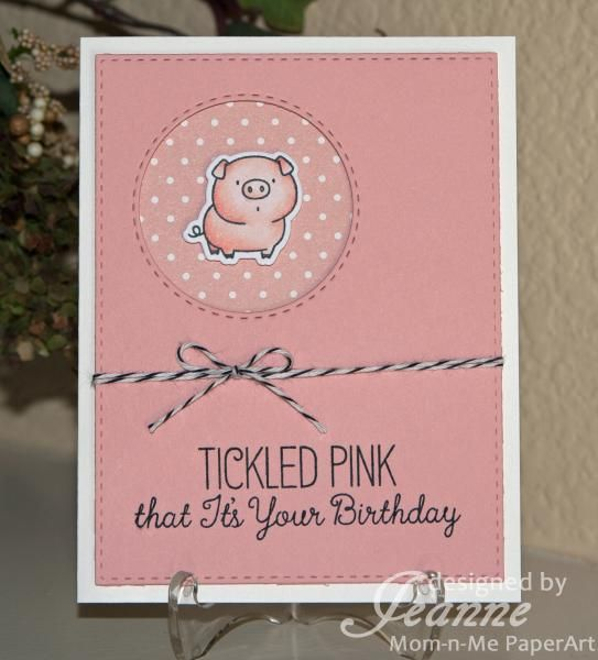 Tickled Pink! #mftstamps