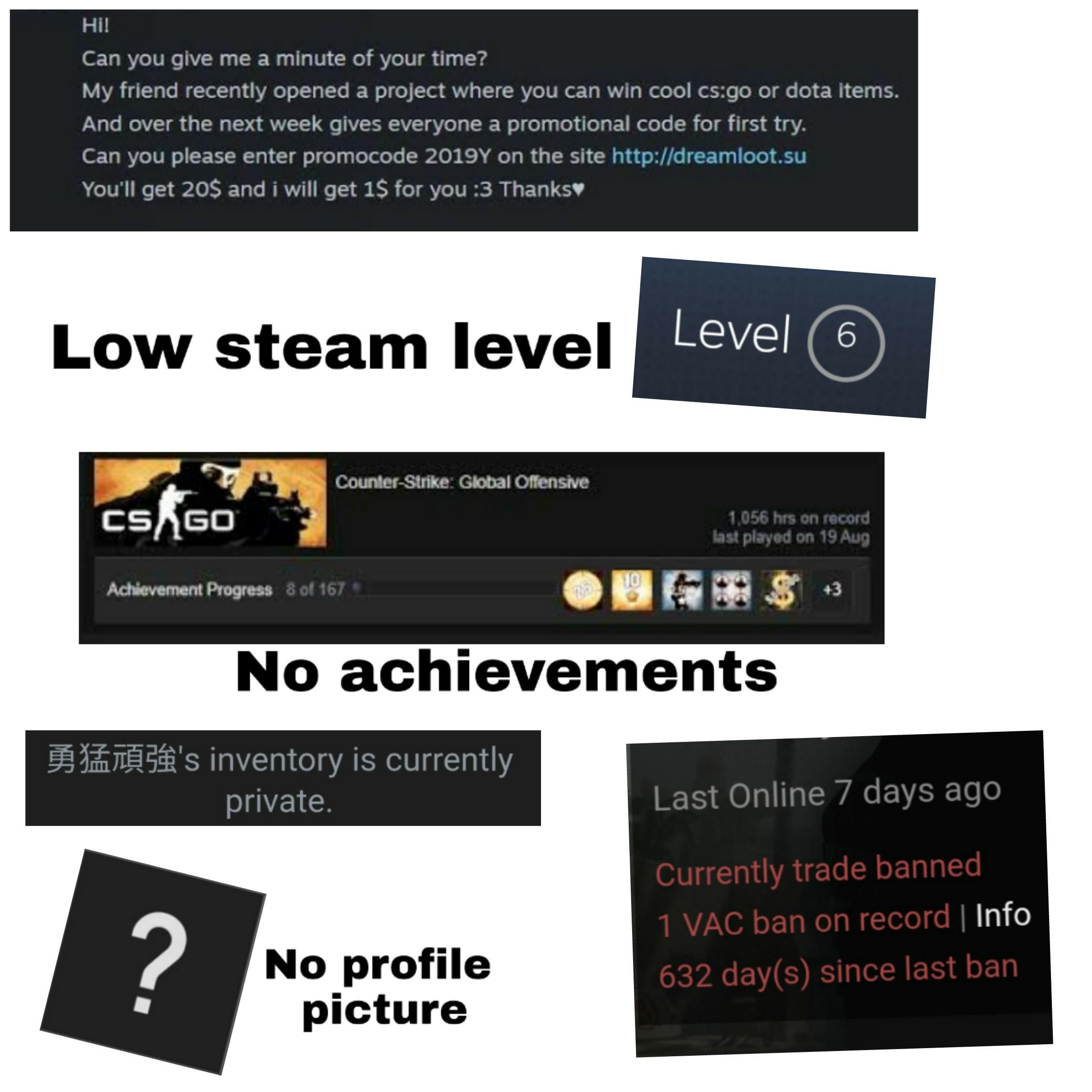 Blatant Steam Scammer Starterpack Steam Give It To Me Starter Packs Meme