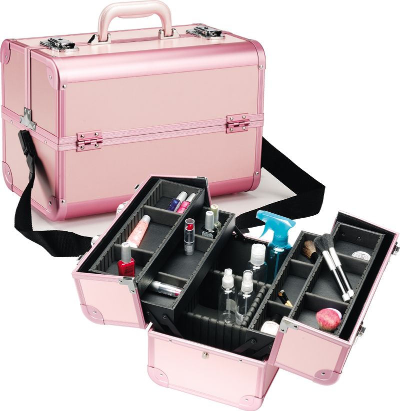 pro pink aluminum makeup only 79 95 plus free shipping