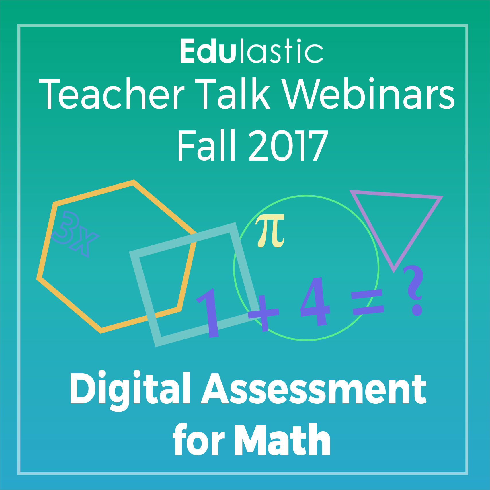 Hey Math teachers! Join us for a webinar where you will
