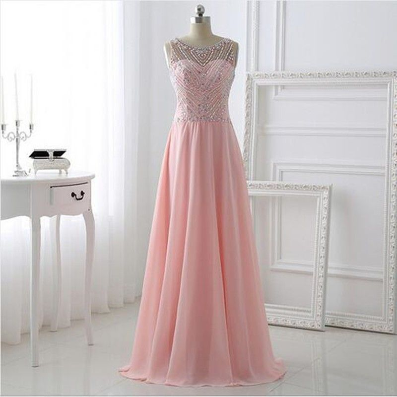 Click to Buy << Pink Long Sparkle Bling Bling Prom dresses 2016 with ...