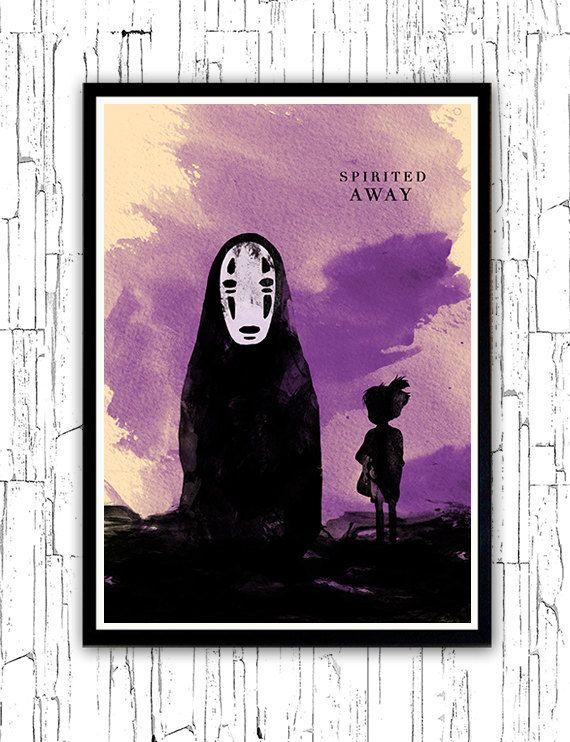 Spirited Away Hayao Miyazaki Minimalist Movie Poster door ...
