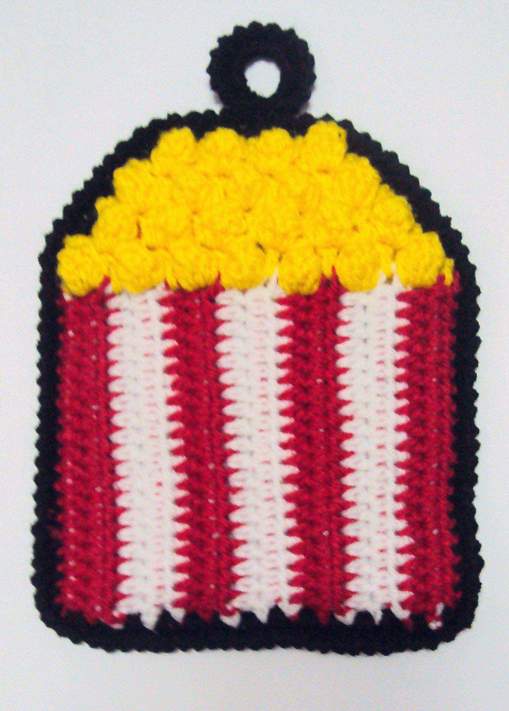 Popcorn Potholder free crochet pattern | To show Grammy ...