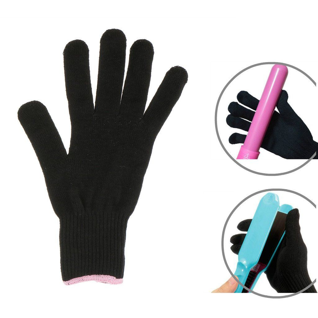 Magideal Thermal Heat Resistant Glove For Hair Styling Heat Proof Flat Iron And Curling Wand Black Professional Hair Tools Heat Resistant Gloves Hair Tools