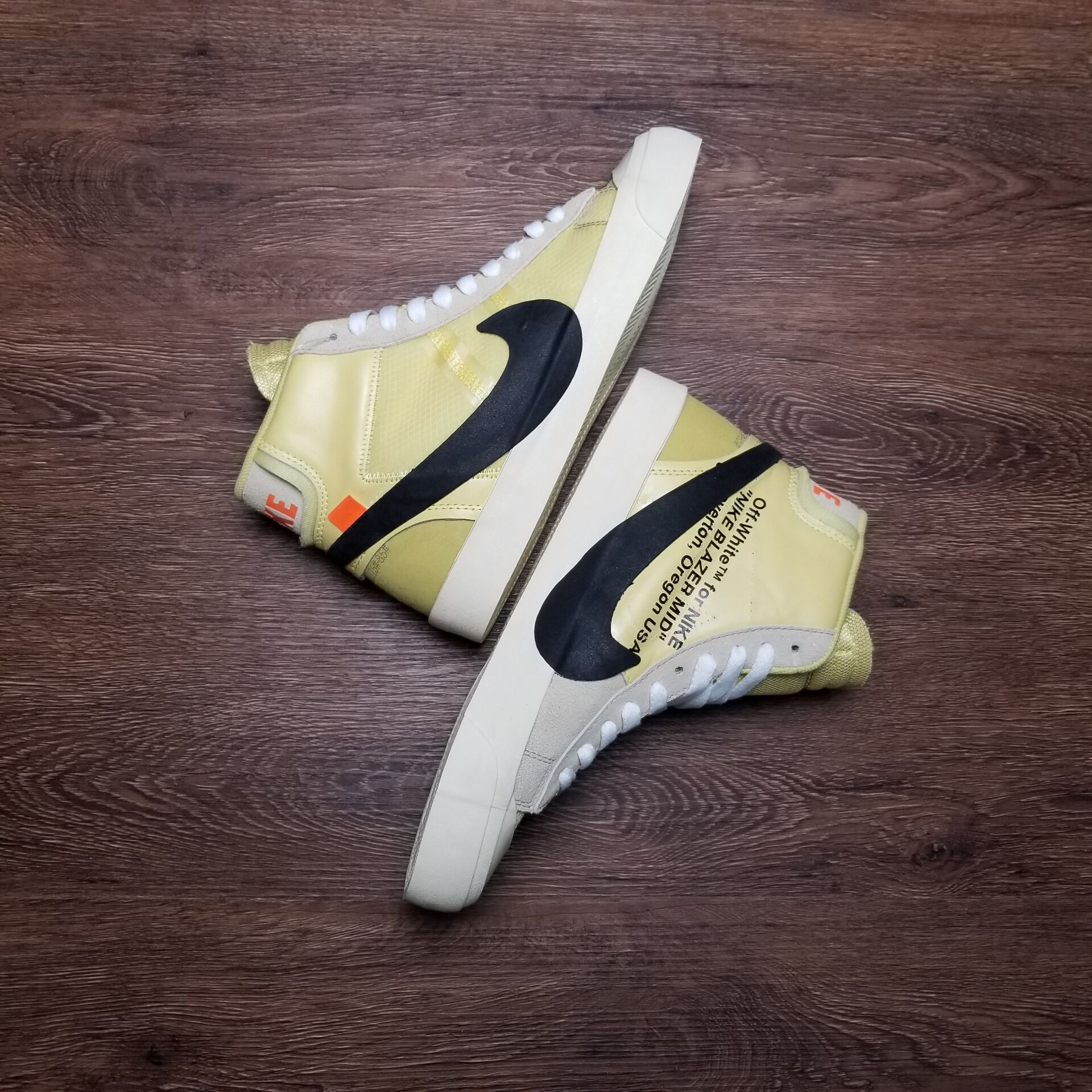 """buy popular a2a13 ca67f Three Colorways of the Off-White x Nike Blazer Studio Mid 2018,""""Pale Vanilla""""  release in July 2018 followed by the """"Black"""" """"Wolf Grey"""" pairs in September  ..."""