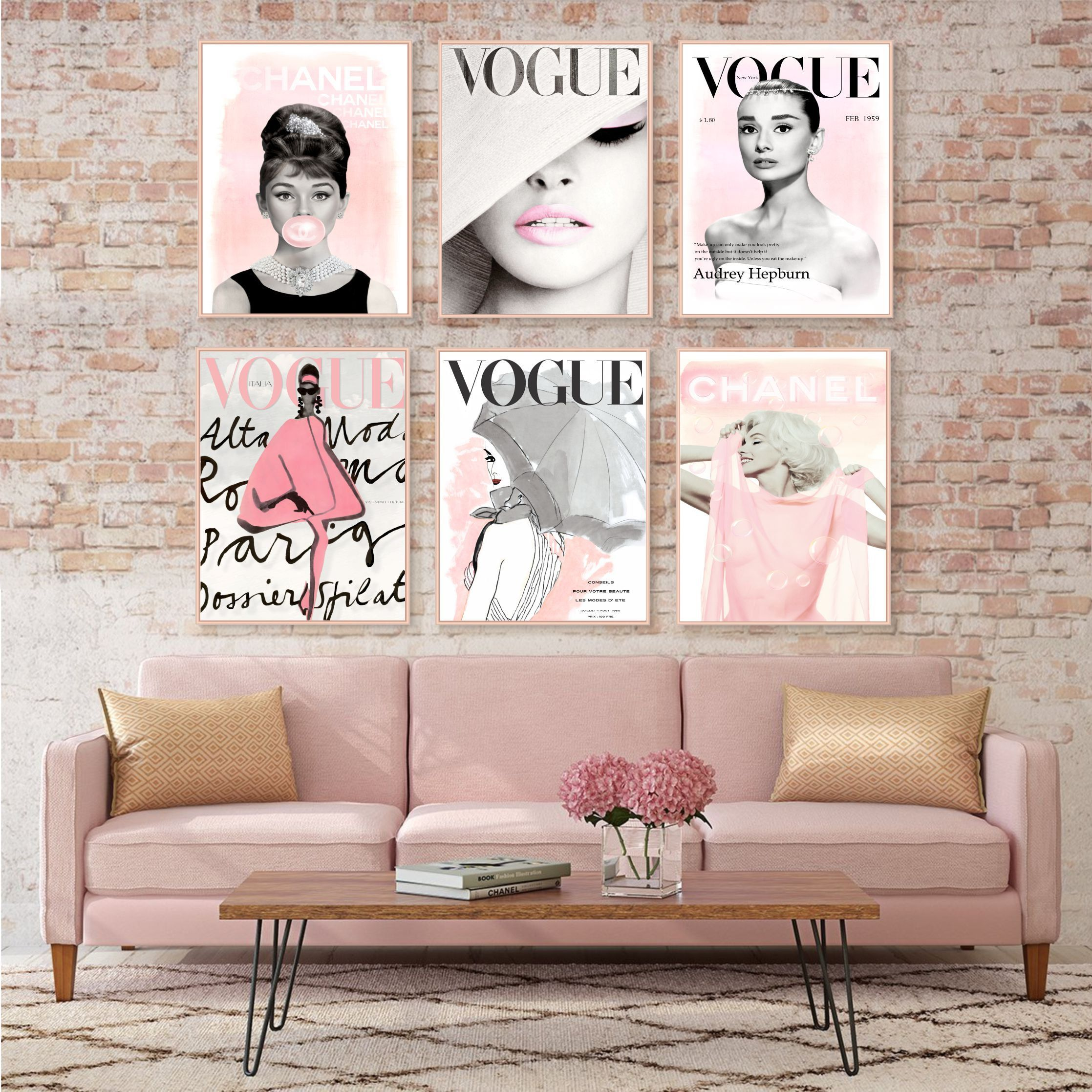 Fashion Wall Art Set Prints Vogue Posters Chanel Prints Set Of 6 Fashion Prints Water Fashion Wall Art Salon Interior Design Nail Salon Interior Design
