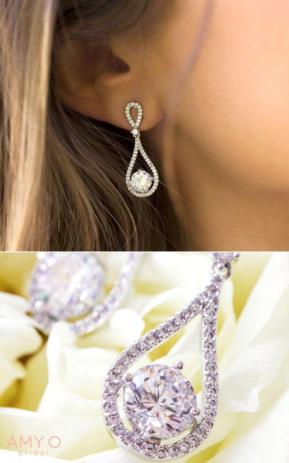 Sophia Classic Drop Earrings Bride Earrings Wedding Earrings Drop Bridesmaid Earrings