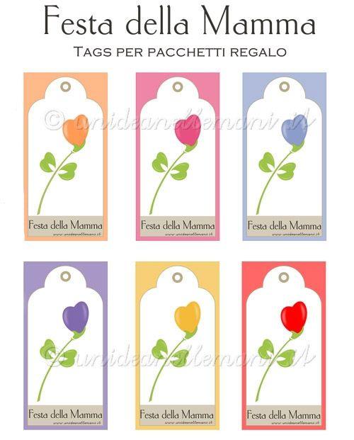 Biglietti Auguri Festa Della Mamma 6 Gift Tags Da Stampare Gratis