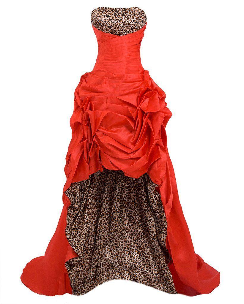 Bixizhiran womenus front short long back strapless evening prom