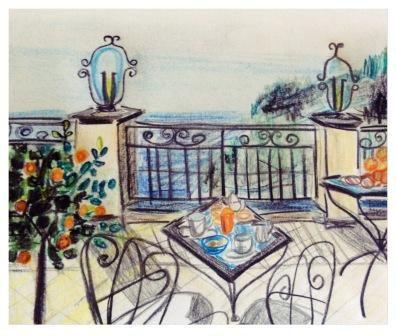 #colazione #dolcevita #amalficoast #illustration #travel #positano #babyruth