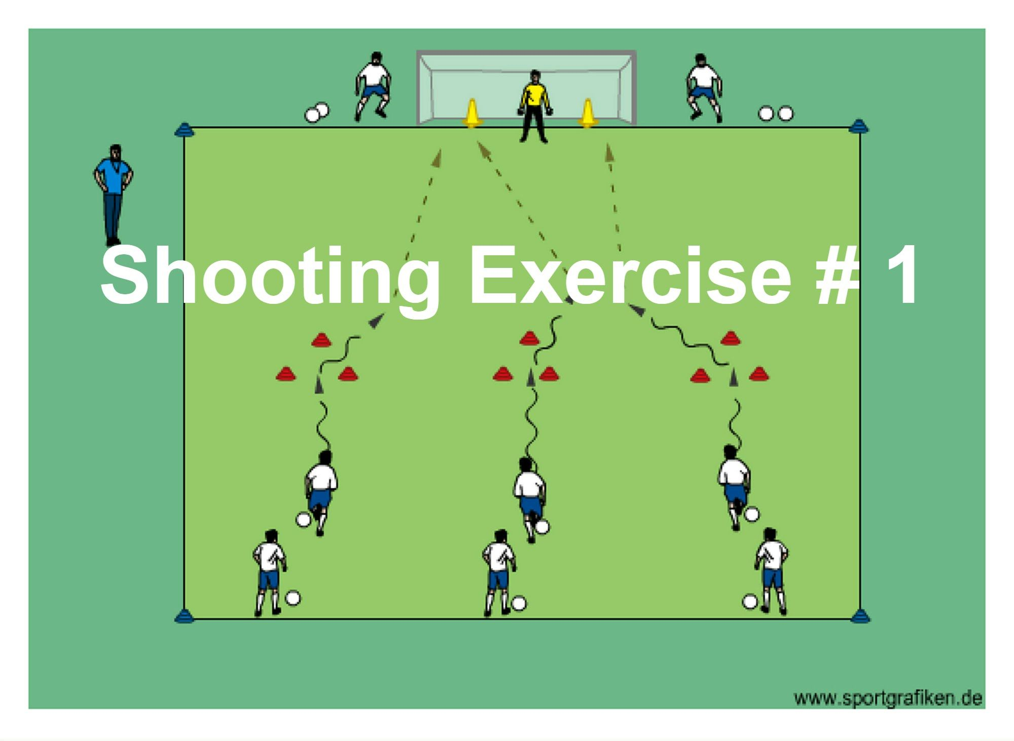 Competitive Soccer Shooting Drills Soccer Drills For Kids Soccer Training Soccer Workouts