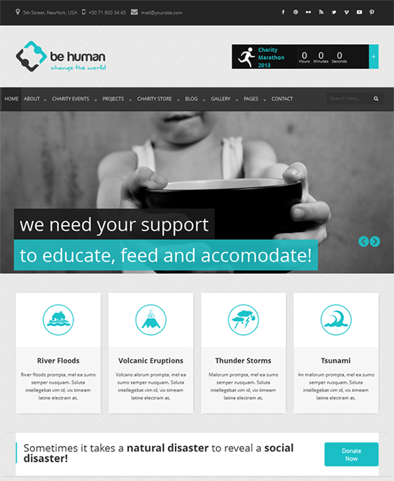 This HTML5 and CSS3 crowdfunding website template offers jQuery ...