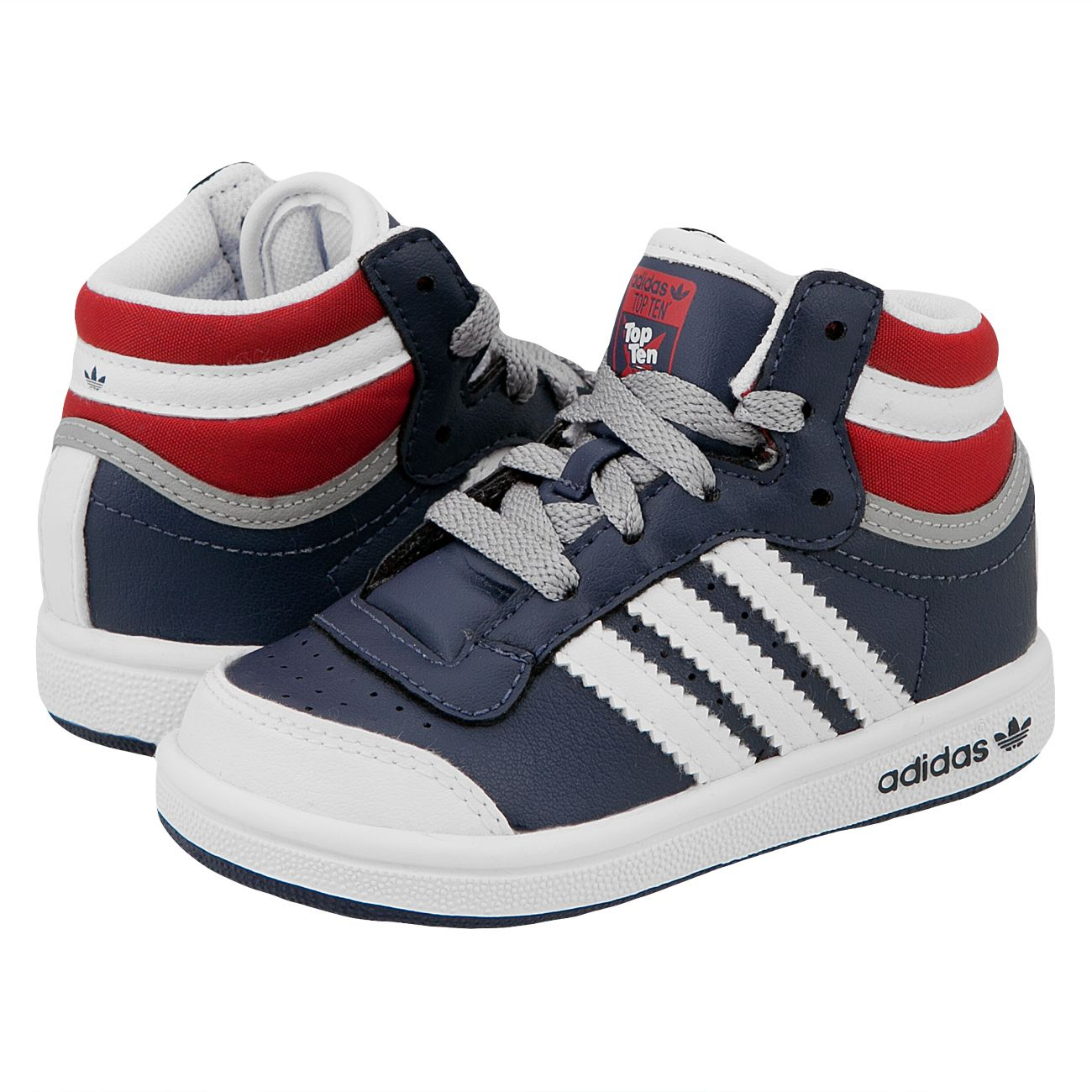 size 40 90f4c a487c Adidas Top Ten Hi I Kids Sneakers Navy ColRed White