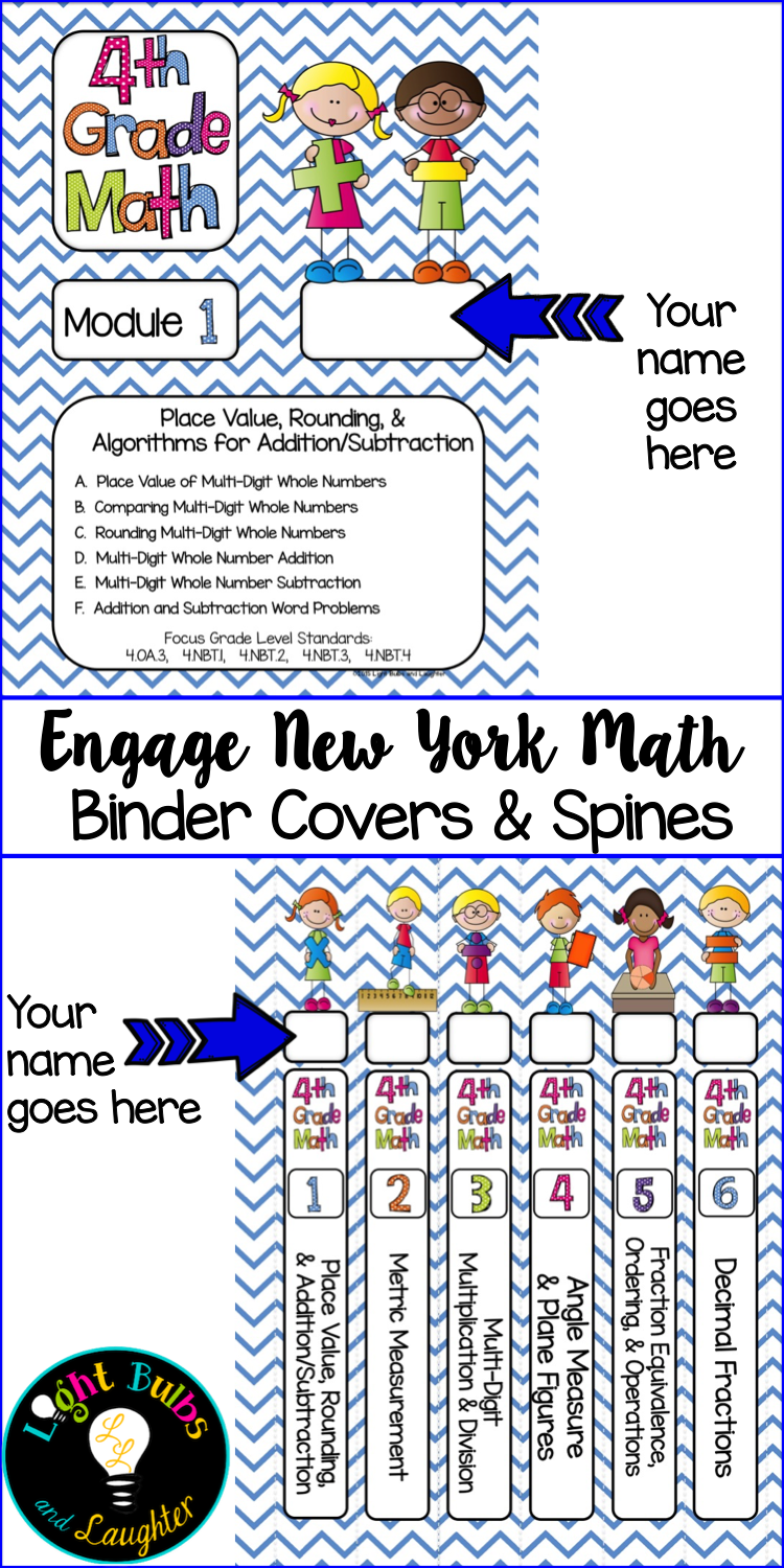 Engage New York Math - Get organized with binder covers and spines ...