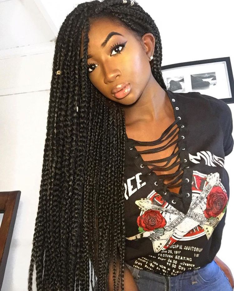 Go Follow Blackgirlsvault For More Celebration Of Black Beauty Excellence And Culture Coiffure Longue Nouvelles Coiffures Coiffure