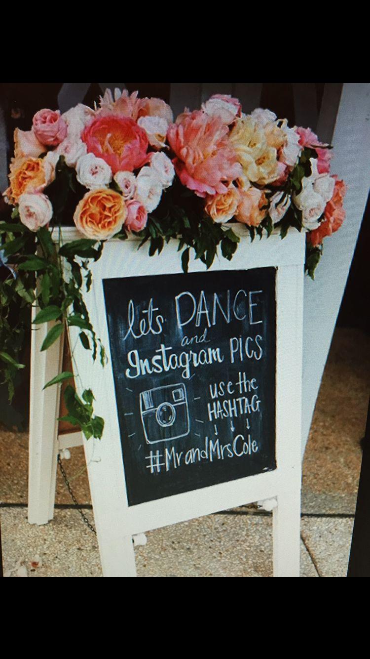 Sandwich board Wedding hashtag, Wedding hastags