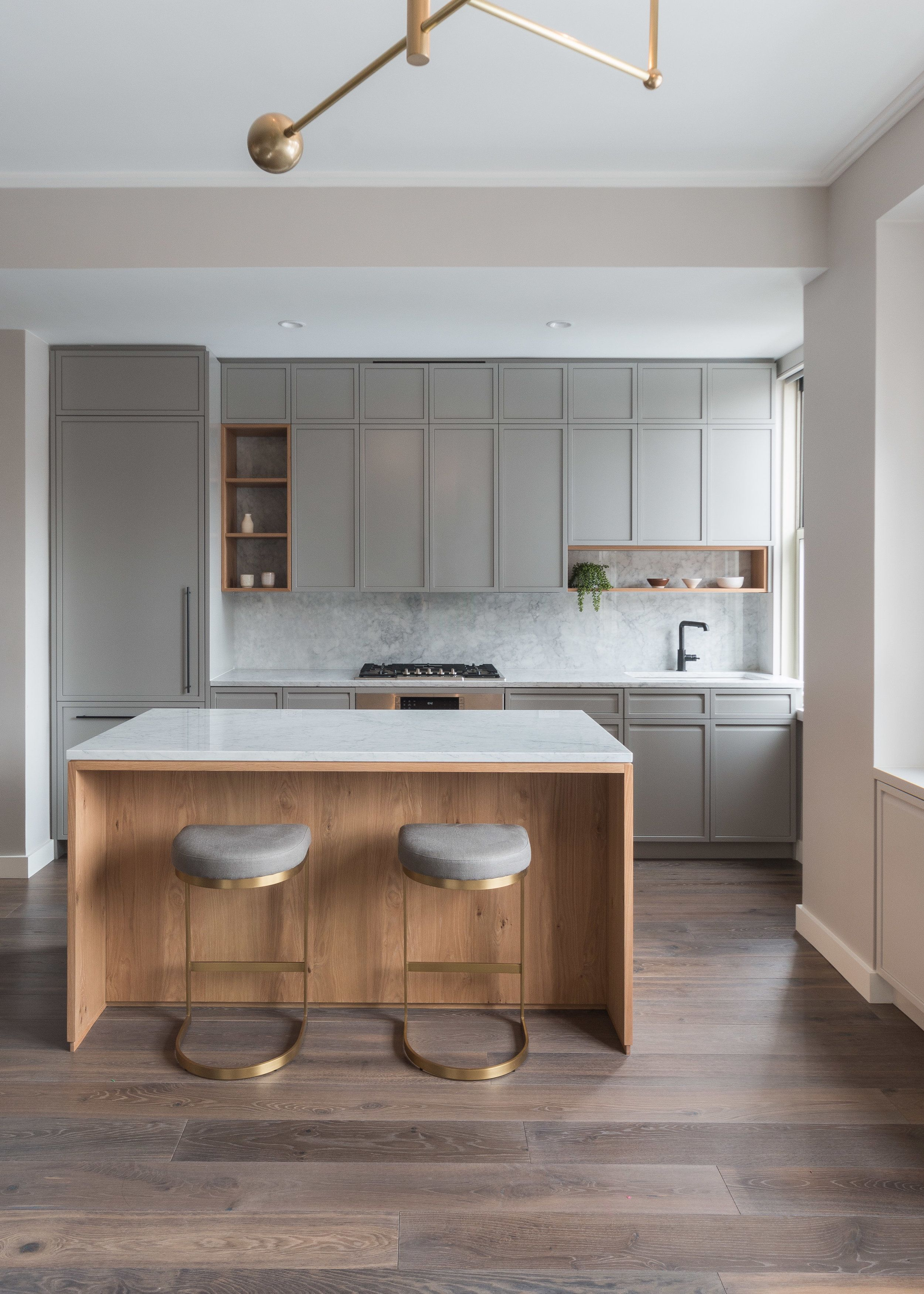 Hunt Architecture Nyc Fumed Oak Floor By Madera Kitchen