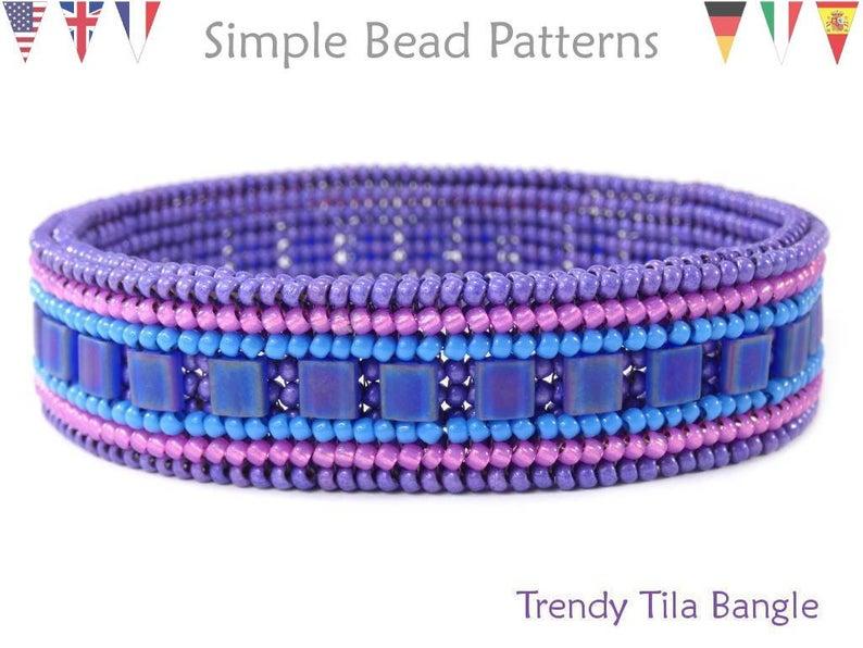 Photo of Tila Bangle Bracelet Tutorial – DIY Schmuckherstellung Perlenmuster – Fischgrätenstich – Einfache Perlenmuster – Trendy Tila Bangle # 413