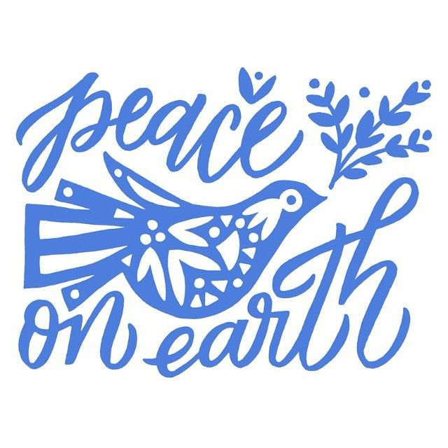 peace on earth | lettering and design by Kristen Drozdowski