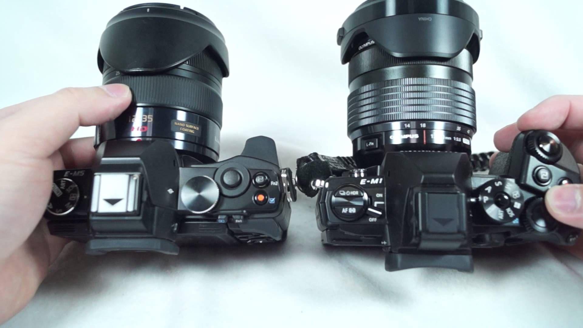 Olympus Omd Em1 Vs Em5 Size Comparison With Panasonic 12 35 Olympus 1 Olympus Camera Olympus Photo Gear