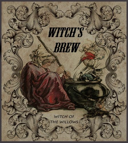Witch's brew label - halloween forum | Apothecary | Pinterest ...