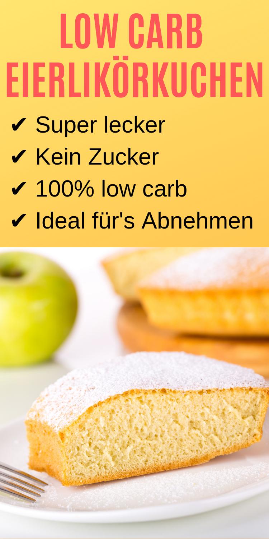 Low carb Eierlikörkuchen - Schnell und ideal für's Abnehmen - Lebensheld