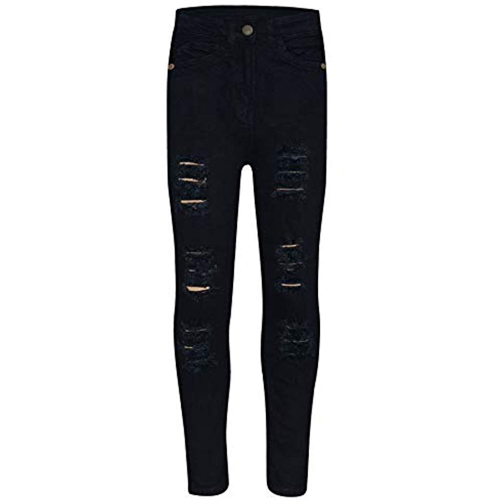 A2Z 4 Kids/® Kinder M/ädchen D/ünn Jeans Designer Denim Zerrissen Dehnbar Hosen Mode Hosen Alter 3 4 5 6 7 8 9 10 11 12 13 Jahre