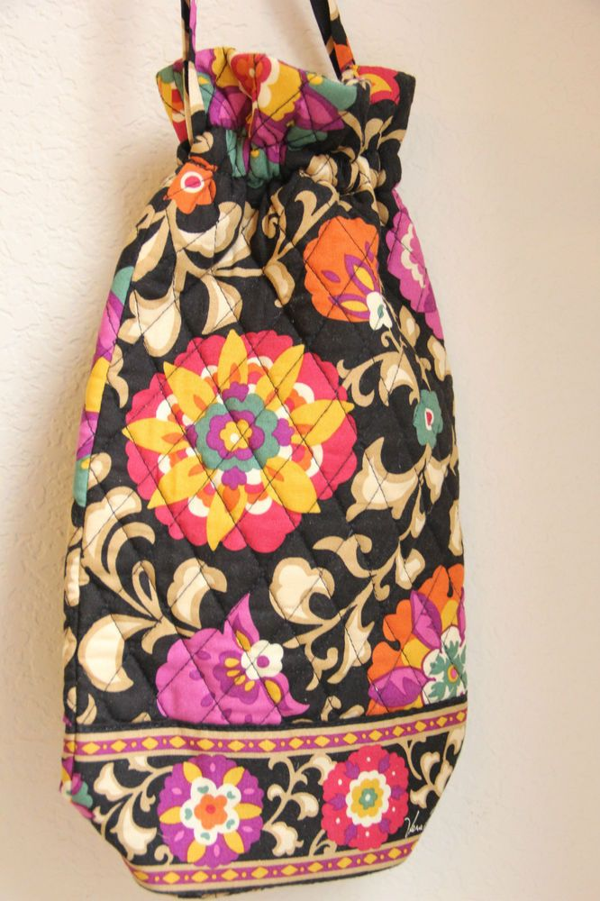 5cf165754967 Vera Bradley Cheers to You Suzani Wine Bag RETIRED EUC! Quilted Floral Gift
