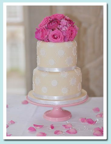 2 Tier Double Height Stacked Wedding Cake Of Fruit Chocolate Cakes