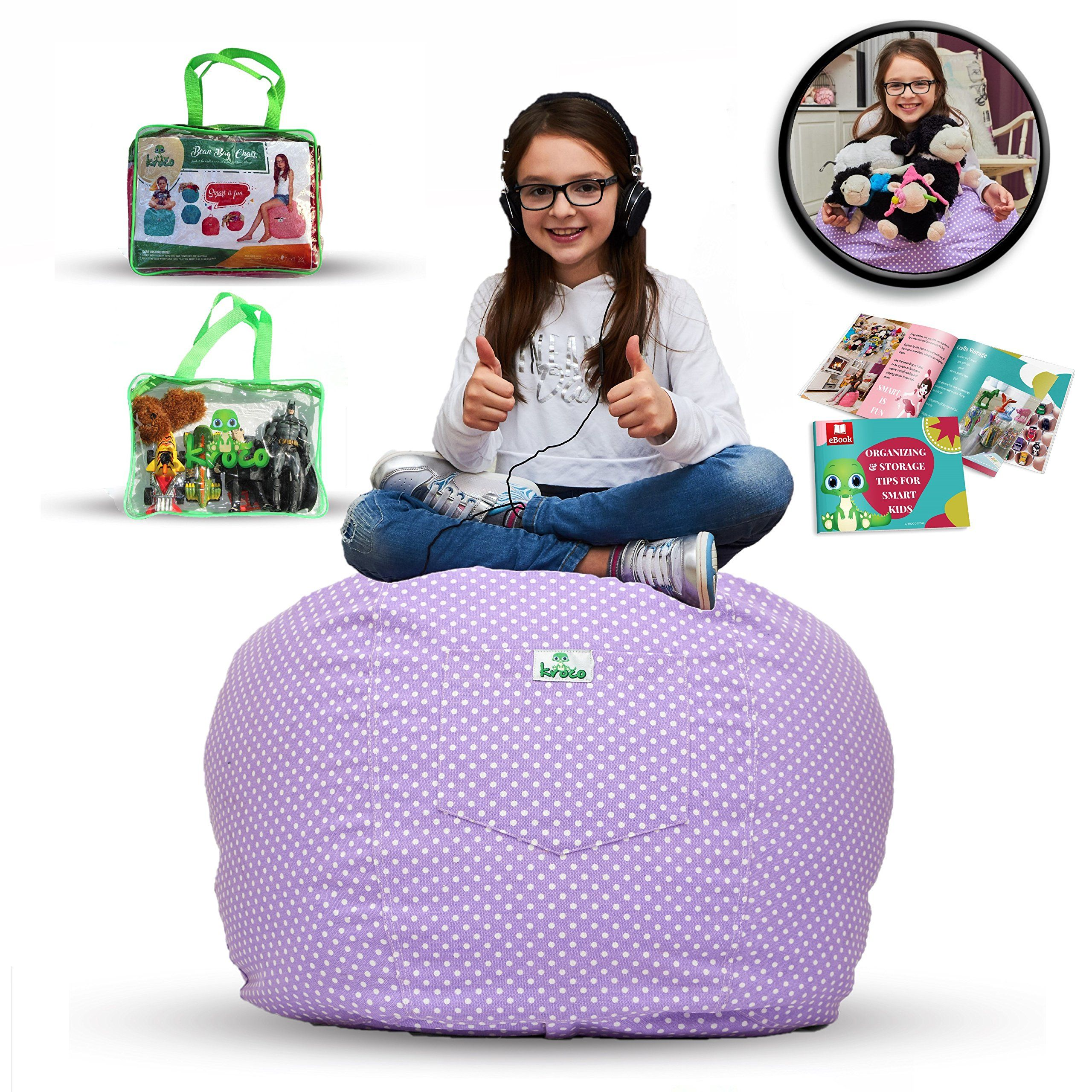 Peachy Extra Large Stuffed Animal Storage Bean Bag Stuff N Sit Squirreltailoven Fun Painted Chair Ideas Images Squirreltailovenorg