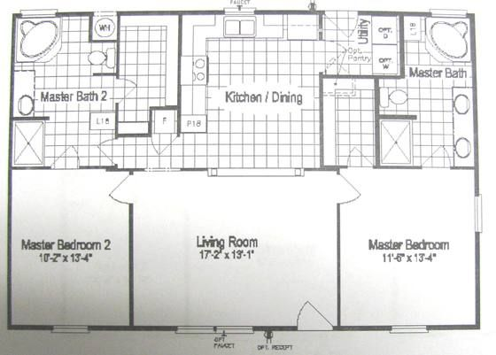 Display Home Heritage I 40e4 In San Antonio Tx Luxury Mobile Homes Double Master Floor Plan Modular Homes