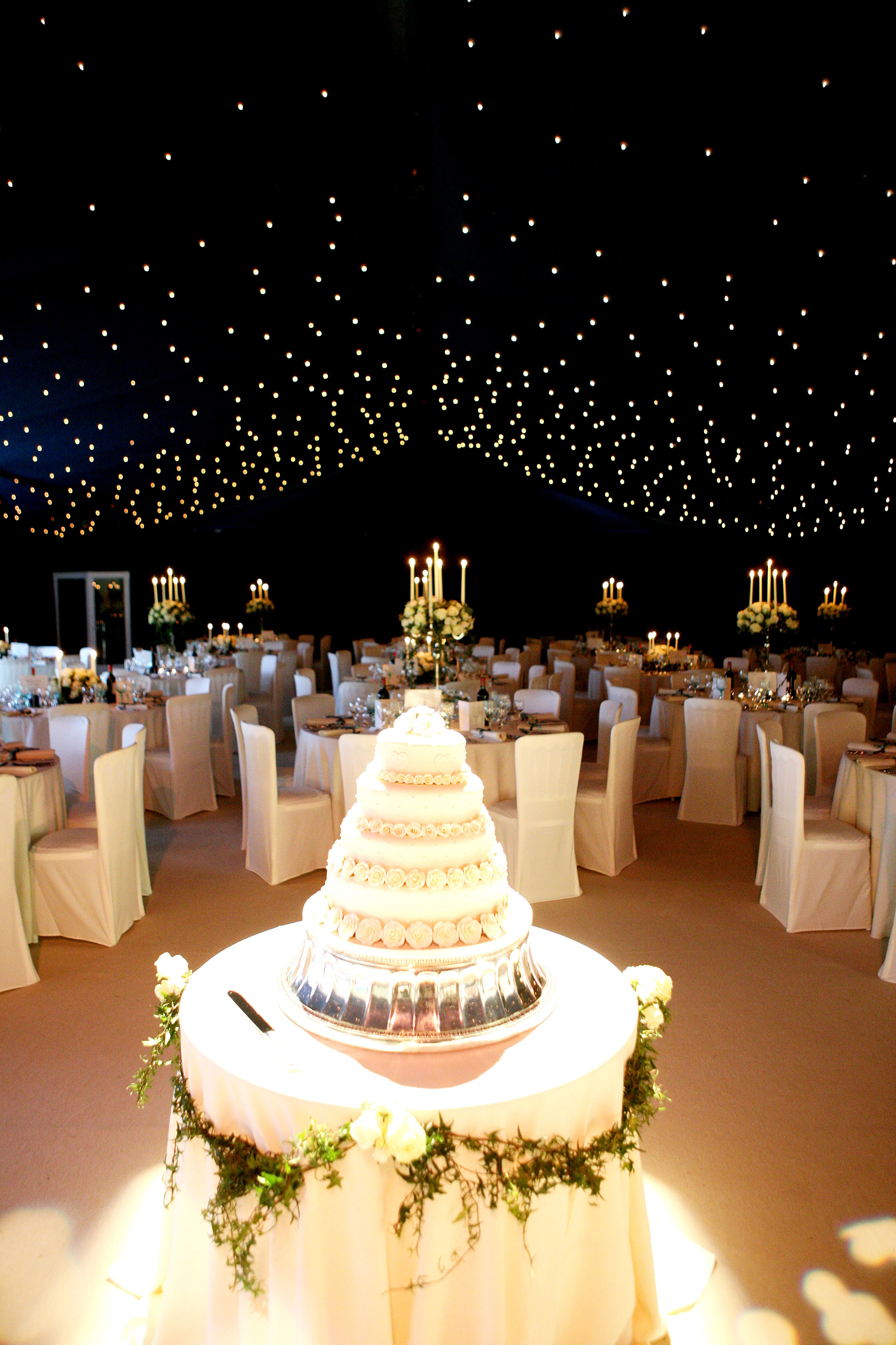 Winter Wedding Sky Light Decor Table Design And Marquee Design