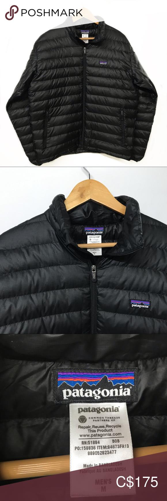 PATAGONIA Black Goose Down Puffer Sweater Jacket Mens