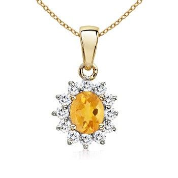 Angara Citrine Pendant in Yellow Gold MDmrVO
