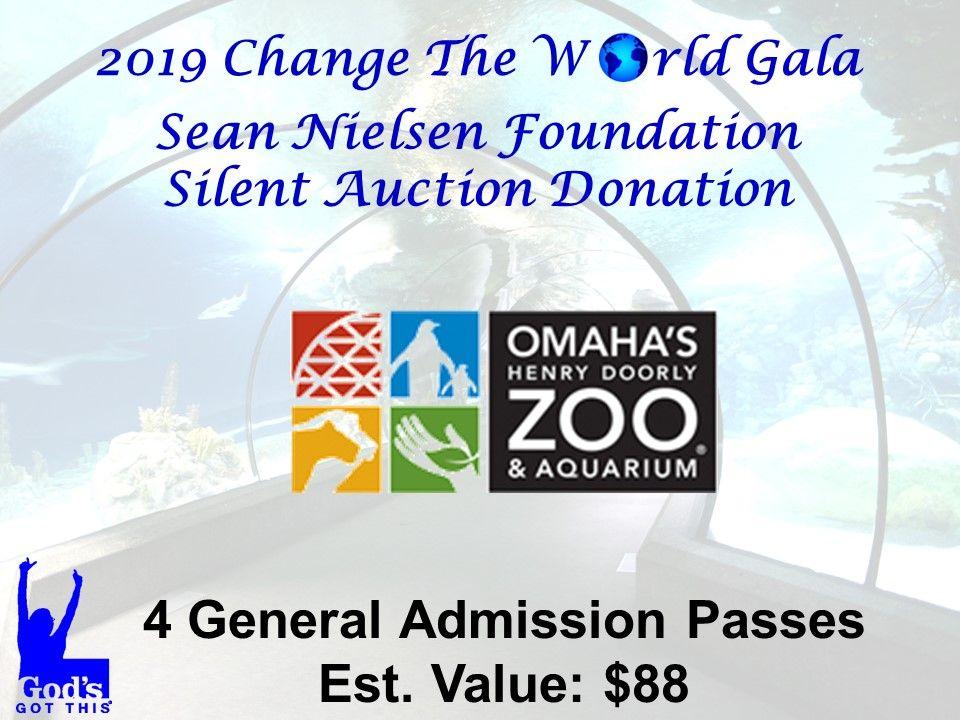Omaha's Henry Doorly Zoo and Aquarium Auction donations