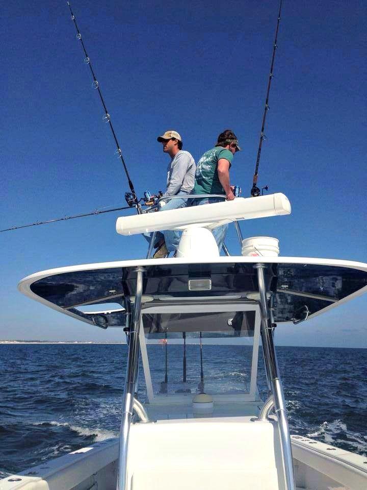Fishing for cobia near the emerald grande destin