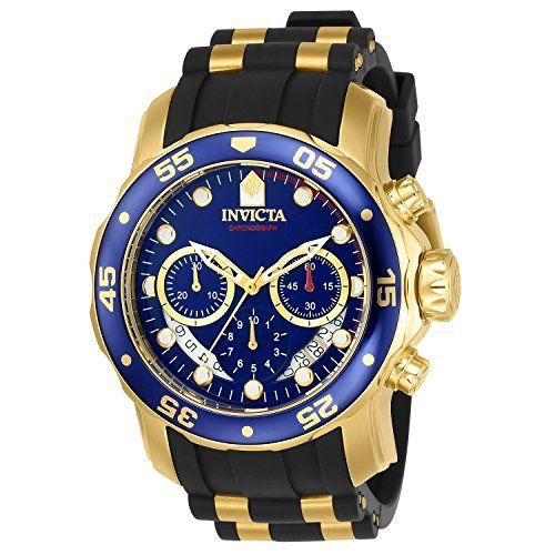 d67c473cded Discounted Invicta Men s 6983 Pro Diver Collection Chronograph Blue Dial  Black Polyurethane Watch  MensWatches