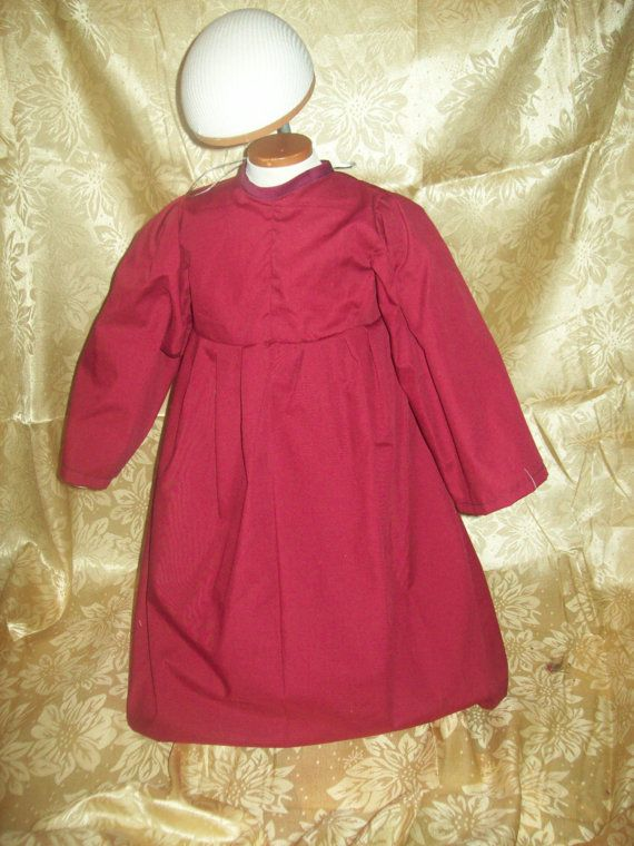 Toddler maroon/burgundy chemise size 2T by MladysCoutorier on Etsy, $15.95