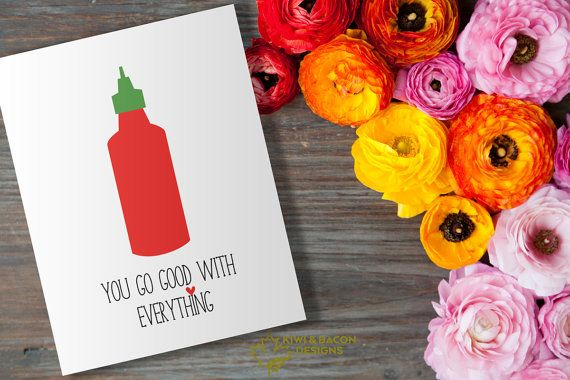 Love greeting card printable good with everything by kiwiandbacon