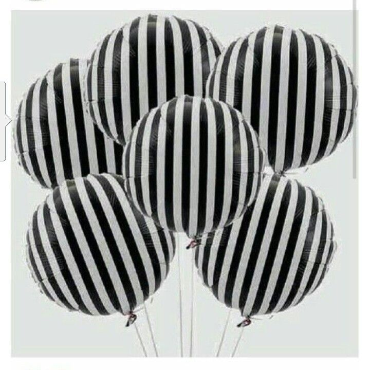 black and white striped balloons