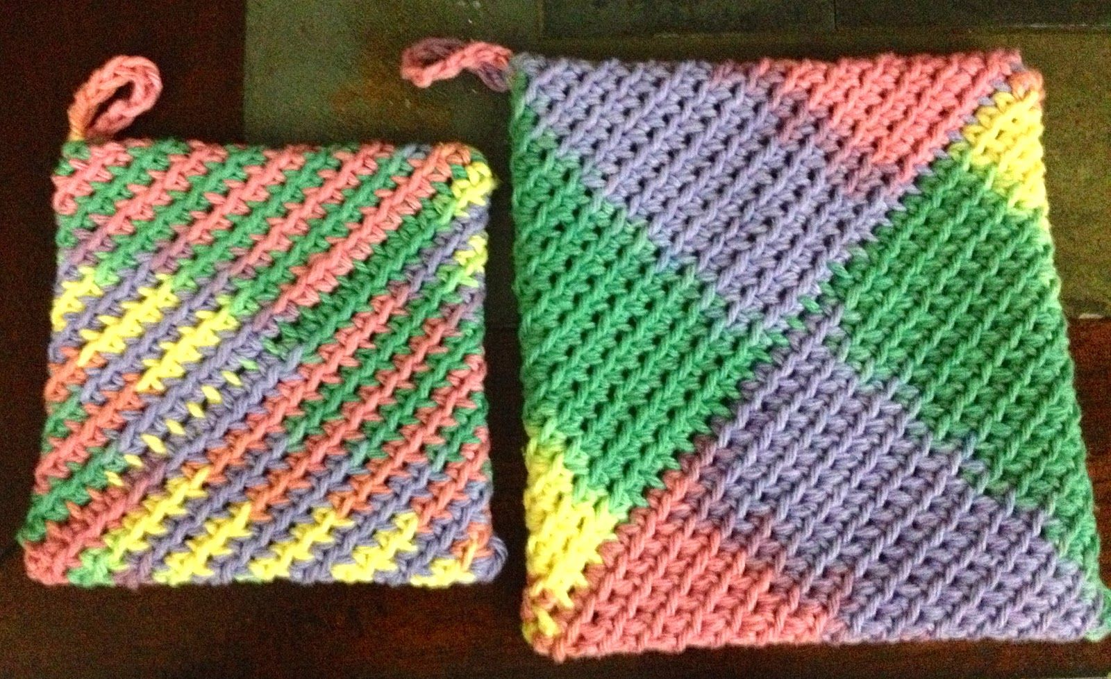 Free Easy Crochet Hot Pads | Crocheted Cotton Hot Pad/Pot Holder ...