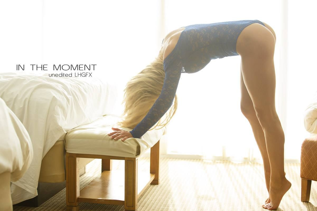 Stretch, Start, And Choose To Have A Good Day. Model